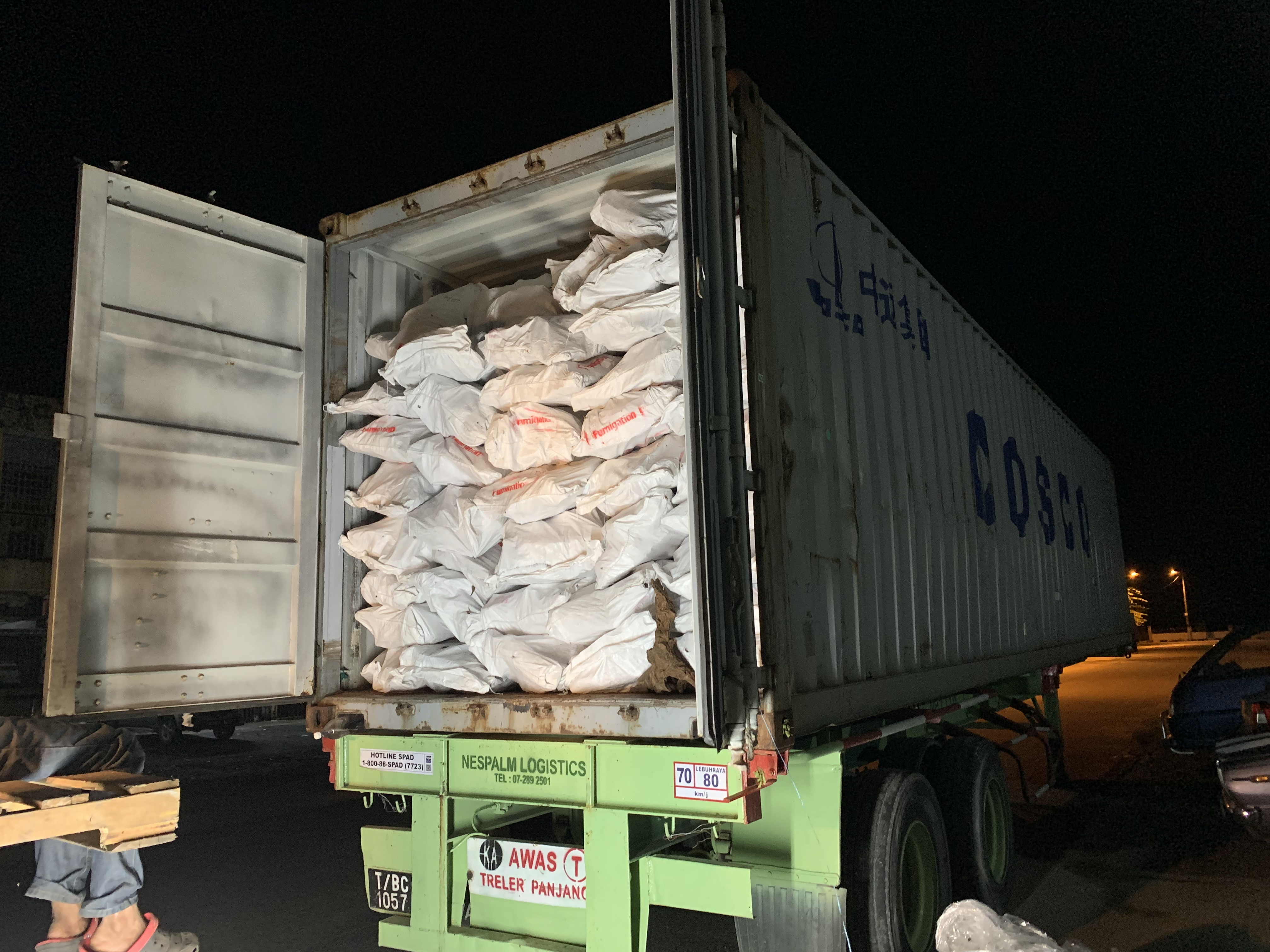 Bulk Supply 40hq Container With Woven Packing